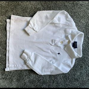 3T long sleeved white Polo by RL